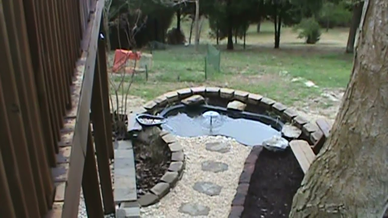 After excavation line the space with approximately 5cm of for Pond installation